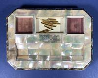 Victorian Mother of Pearl & Abalone Inkstand (4 of 15)