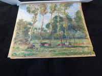"Ascribed To / Circle of Camille Pissarro ,Watercolour ""Rural Scene in Eragny ""? (8 of 8)"
