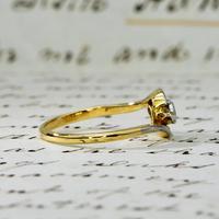 The Antique Old Cut Bezel Set Toi Et Moi Ring (3 of 5)
