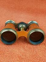 Antique Opera Glasses, Brass & Brown c.1920 (2 of 11)