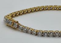 18ct YG Diamond Tennis Bracelet with Safety Clasp (2 of 6)