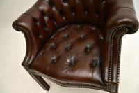 Antique Leather Armchair / Desk Chair (6 of 9)