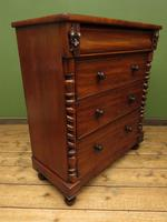 Antique Late 19th Century Mahogany Chest of Drawers, Country House Chest (13 of 15)