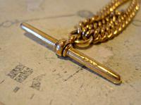 Victorian Pocket Watch Chain 1890s Antique 12ct Rose Gold Filled Albert With T Bar (9 of 12)