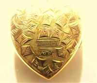 Antique Gold Hallmarked Locket 1906 with Necklace (4 of 11)