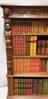 Outstanding Carved Oak Open Library Bookcase (2 of 16)