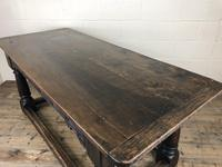 Antique Oak Refectory Table with Plank Top (9 of 12)