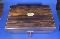 William IV Pewter Inlaid Rosewood Box (9 of 18)