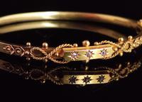Antique Diamond Bangle 15ct Gold, Edwardian (4 of 12)