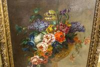 18th Century French Oil Painting. Still Life of Flowers. Artist: J. L Boizet 1789 (6 of 11)