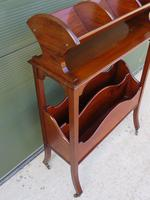 Edwardian Mahogany Magazine Rack with Book Stand (5 of 7)