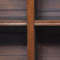 Large Victorian Oak Open Bookcase (3 of 8)