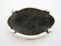 Antique Silver Jewellery Box in a Shaped Oval Form and Hinged Lid (5 of 6)