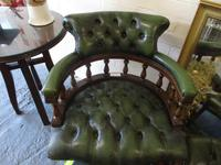 Chesterfield Revolving Leather Captains Chair (2 of 3)