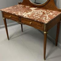 Large French Marble Top Dressing Table (2 of 9)