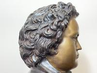 Classical Music Interest German Bronze Composer Ludwig Van Beethoven Bust Sculpture (16 of 25)