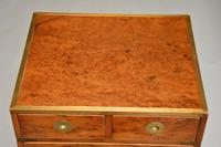 Antique Yew Wood Military Campaign Chest of Drawers (6 of 13)
