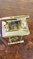 Attractive Small Brass French Carriage Clock (6 of 7)