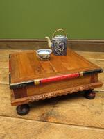 Vintage Small Japanese Tea Table, Indian Bajot Table (10 of 12)