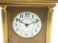 Antique Striking French 8-day Carriage Clock Unusual Masked Dial Case with Enamel Dial (7 of 11)