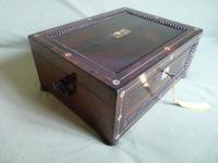 Inlaid Rosewood Jewellery Box c.1835 (3 of 10)