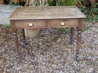 Solid oak school desk (3 of 7)