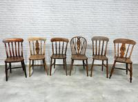 Interesting Harlequin Set of 6 Windsor Kitchen Chairs (2 of 6)
