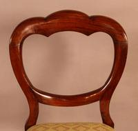 Set of 12 Victorian Mahogany Balloon Back Dining Chairs (9 of 10)
