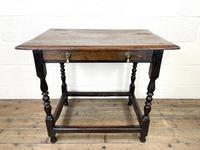 18th Century Antique Oak Side Table (2 of 11)
