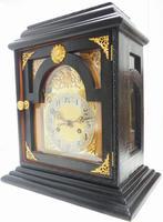 Interesting Quarter Striking German Bracket Clock by Junghans in Ebony Glazed Case (7 of 9)