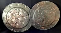 Pair of Large  Arts and Crafts  Repousse  Copper Chargers (5 of 5)