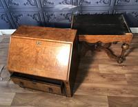 William & Mary Style Burr Elm Bureau on Stand c.1900 (18 of 19)