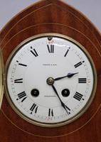 French Belle Epoque Mahogany Mantel Clock, 1900s (3 of 8)