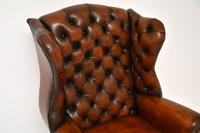 Antique Georgian  Style Leather Wing Back Armchair (5 of 9)