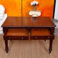 Desk Writing Table Mahogany 19th Century Victorian (2 of 11)