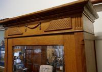 Victorian Arts & Crafts Golden Oak Mirrored Wardrobe (5 of 9)
