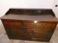 English 18th Century Oak Dresser with Spice Drawers (11 of 15)