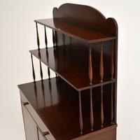 Antique Sheraton Style Inlaid Mahogany Bookcase / Cabinet (5 of 12)