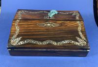 William IV Rosewood Lap Desk, Inlaid with Mother of Pearl (8 of 14)