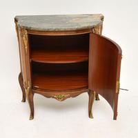 Antique French Inlaid  Marquetry Marble Top Cabinet (5 of 10)