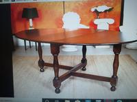 Solid Oak Table with flaps and four chairs. All very substantial in weight! (4 of 9)