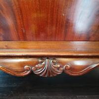 Victorian Mahogany Glazed Bookcase / Bureau with pigeon holes (8 of 14)