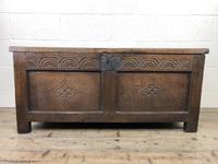 Early 19th Century Antique Oak Coffer Blanket Box (4 of 19)