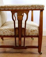 Edwardian Art Nouveau Inlaid Armchair (6 of 8)