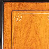Anglo-Chinese Camphor & Ebony Campaign Secretaire Bookcase (8 of 15)