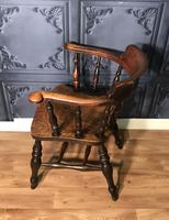 Victorian Elm Captains Smokers Bow Chair (11 of 13)