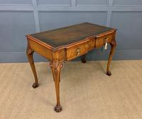 Excellent Queen Anne Style Burr Walnut Writing Table (8 of 16)