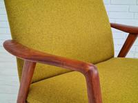 Alf Svensson, 60s, Armchair Model Kontur, Completely Restored, Furniture Wool (9 of 16)