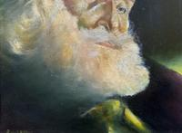Early 1900s Oil Portrait Painting of Elderly Bearded Indian Gent (8 of 12)