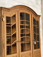 French 3 Door Oak Bookcase or Cabinet (10 of 15)